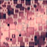 Retro- quadratische Musterauslegung Lizenzfreies Stockbild
