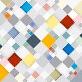 Retro- quadratischer Hintergrund Lizenzfreies Stockbild
