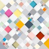Retro- quadratischer Hintergrund Stockbild