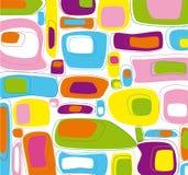 Retro- quadratisches Muster Stockbilder