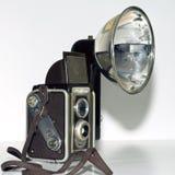 Retro quadrato della macchina fotografica della Kodak del duaflex Immagini Stock Libere da Diritti
