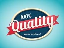 Retro qualità del distintivo Immagini Stock