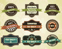 Retro quality labels. Vintage vector design Royalty Free Stock Photos