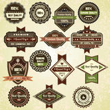 Retro quality labels. Vintage vector design Vector Illustration