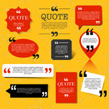 Retro Quotation mark speech bubble, quote block design element Royalty Free Stock Image