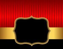 Retro röd amdguld för ram/för gräns Arkivfoto