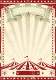 Retro röd cirkus. Royaltyfri Bild
