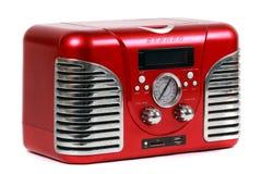 Retro röd radio Arkivfoton