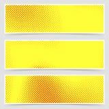 Retro raccolta dell'aletta di filatoio di giallo di stile punteggiata Pop art royalty illustrazione gratis
