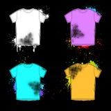 Retro raccolta di progettazione della vecchia camicia Immagini Stock Libere da Diritti