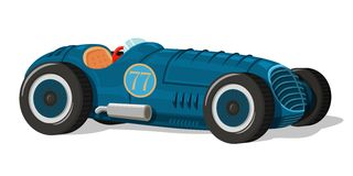 Retro racing car icon Royalty Free Stock Photo