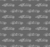 Retro racing car pattern Stock Photo