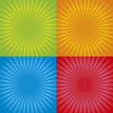 Retro Radial Background 01 Royalty Free Stock Photography