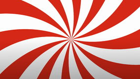 Retro Radial Red and White Pattern. stock footage