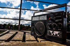retro radio royaltyfri fotografi