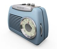 Retro radio. 3D render of a retro radio Stock Images