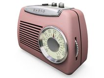 Retro radio royalty free illustration