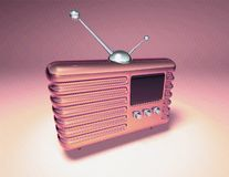 retro radio royaltyfri illustrationer