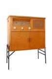 Retro radio. Old radio isolated on a white background Stock Image