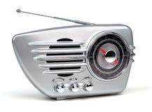 Retro radio. A shot of a silver retro radio Royalty Free Stock Photos