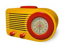 retro radio Royaltyfri Foto