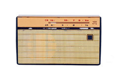 Retro radio. Soviet retro radio, isolated on white background Stock Images