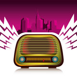 Retro radio. Stock Photography