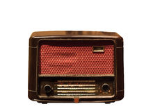 Retro radio. Isolated on white background Royalty Free Stock Photos