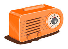 Retro radio. Vector art of a 1930s Retro styled radio Royalty Free Stock Photos