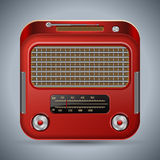 Retro radio Royaltyfri Bild