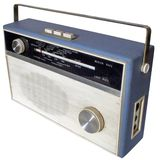 Retro radio stock foto
