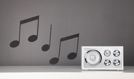 Retro radio Immagini Stock