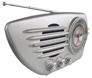 Retro radio. Focus is on the near side of this groovy set Royalty Free Stock Photography
