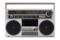 Retro radio from the 80s Stock Photos