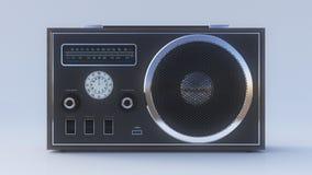 Retro- Radio auf dem weißen Hintergrund Stockbilder
