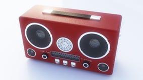 Retro- Radio auf dem weißen Hintergrund Stockfotografie