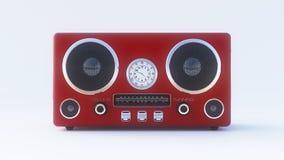 Retro- Radio auf dem weißen Hintergrund Lizenzfreies Stockbild