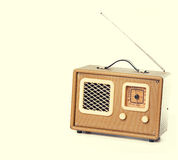 Retro radio background Stock Photo