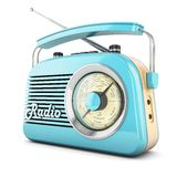 Retro radio blue Stock Images