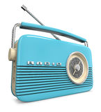 Retro radio in blue Royalty Free Stock Images