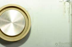 Retro radio button. Detail of an retro radio button with copy-space royalty free stock photo