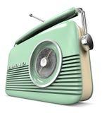 Retro radio with carrying handle Stock Photos