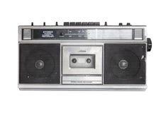 Retro radio cassette. Isolated on white background royalty free stock photos