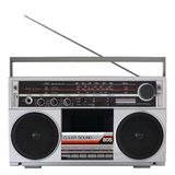 Retro radio cassette player Royalty Free Stock Photography