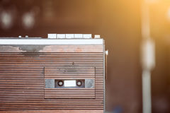 Retro radio cassette stereo. In vintage color tone Royalty Free Stock Photography