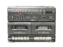 Retro radio cassette tape Royalty Free Stock Images