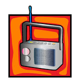 Retro radio clip art Royalty Free Stock Photography