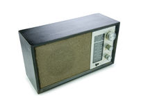 Retro Radio (Clip path) Royalty Free Stock Photography