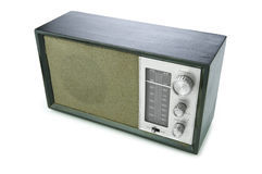 Retro Radio (Clip path) Royalty Free Stock Images