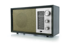 Retro Radio (Clip path) Royalty Free Stock Photo